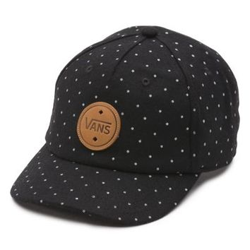 d54ef90e80c Vans Dotted Acrylic 5-Panel Hat (Black) from Vans