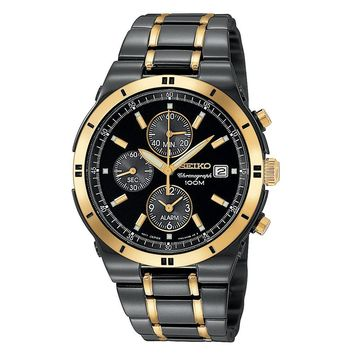 Seiko Mens Stainless Steel Two Tone Watch