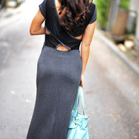Show Me Your Dark Side Maxi Dress   Hope's