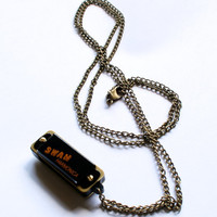 Mini Swan Harmonica Necklace