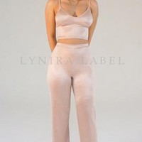 The 'PRINSY' Pants Set In Blush