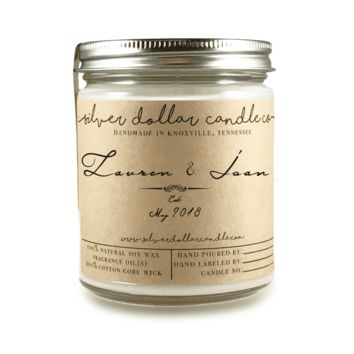Engagement/Couple Candle - 8oz Soy Candle [V4]