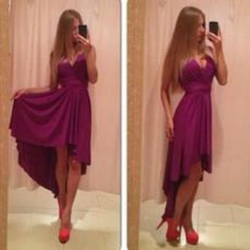Elegant Sexy Women's Long Dress V-neck Sleeveless One Piece Soft Party Dress [7954206535]