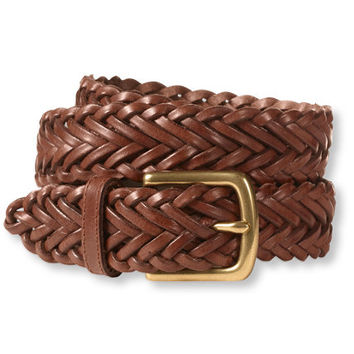 Men's Essential Braided Leather Belt | Free Shipping at L.L.Bean