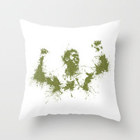 Jo-Wilfried Tsonga Wimbledon Tennis Throw Pillow by DanielBergerDesign