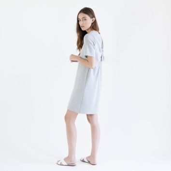 French Terry Knot Dress (Grey)