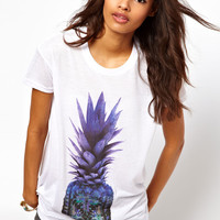 ASOS T-Shirt with Pixelated Pineapple Print
