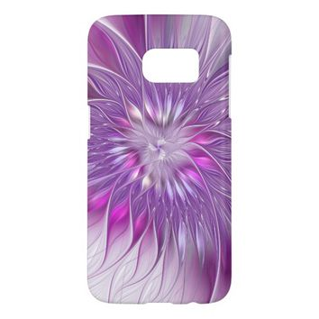 Pink Flower Passion Abstract Fractal Art Samsung Galaxy S7 Case