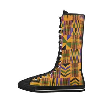 KENTE PRINT EDITIONS HIGH KNEE BOOTS