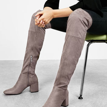 Mid heel tall boots - Boots & Ankle boots - Bershka Germany