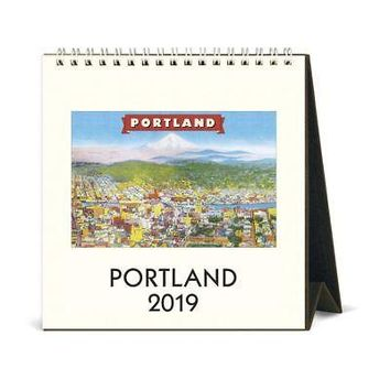 Portland Easel Desk Calendar, More U.S. Cities by Cavallini Papers & Co.