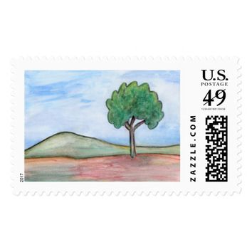 Lonely tree postage