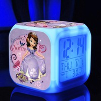 Sofia the First Digital Glow in the Dark Alarm Clock