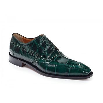 Mauri - 4860 Longhi Alligator Shoes Hunter Green