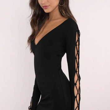 Ashton Lace Up Bodycon Dress