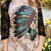 Indian headdress shirt
