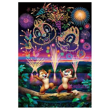 5D Diamond Painting Chip and Dale Fireworks Kit