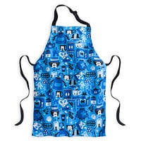 disney parks character kitchen print cottton apron one size new with tags