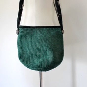 70s Straw and Suede Market Tote