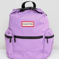 Hunter Thistle Colourblock Mini Nylon Backpack at asos.com