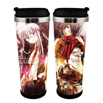 Cool Attack on Titan Japanese Anime  Mikasa Ackerman Double Insulation Mug Coffee Cup Space Cup AT_90_11