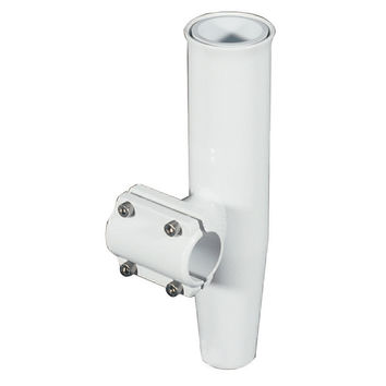 "Lee's Clamp-On Rod Holder - White Aluminum - Horizontal Mount - Fits 1.050"" O.D. Pipe"