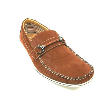 Mens Polar Fox Boat Suedette Moccasin Casual Loafers Shoes 30218 Brown-378