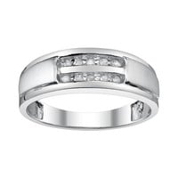Platina 4 1/10-ct. T.W. Diamond Wedding Band - Men (White)