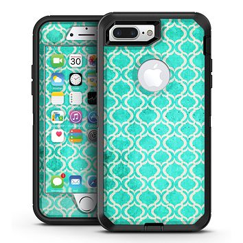 Teal and White Bubble Morrocan Pattern - iPhone 7 Plus/8 Plus OtterBox Case & Skin Kits