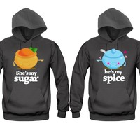 She's My Sugar - He's My Spice Very Cute Unisex Couple Matching Hoodies