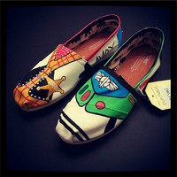 TOY STORY Buzz Lightyear and Woody Disney shoes perfect for your Summer Trip to Disneyland