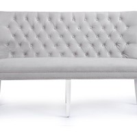 Charlotte Banquette - High Gloss White | Charlotte Round Dining Room Inspiration | Dining Room | Inspiration | Z Gallerie