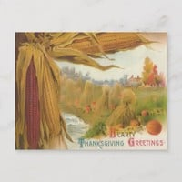 Hearty Thanksgiving Greetings Postcard