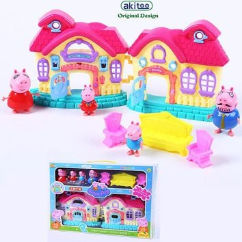 akitoo Kindergarten toys set children have children at home educational toys manufacturers creative gifts Dollhouse Furniture