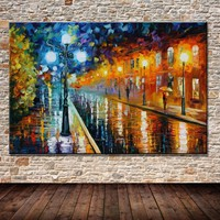 Art Oil Hand-painted picture 100% home-made Colorful Street No Frame