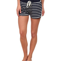 Splendid Lace Trimmed Sleep Shorts Nantucket Stripe - 6pm.com