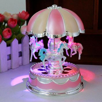 LED Vintage Carousel Music Box