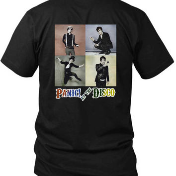 Panic At The Disco Photo Vintage Four 2 Sided Black Mens T Shirt