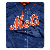 "New York Mets 50""x60"" Royal Plush Raschel Throw Blanket - Jersey Design"
