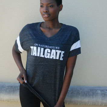 Saturday Tailgate Tee - Charcoal