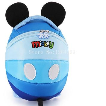 Toddler Backpack class New Fashion Minnie Mickey Girls Boys Toddler Harness Walking Safety Anti-lost School Bags Kids Backpack Bag For Children AT_50_3