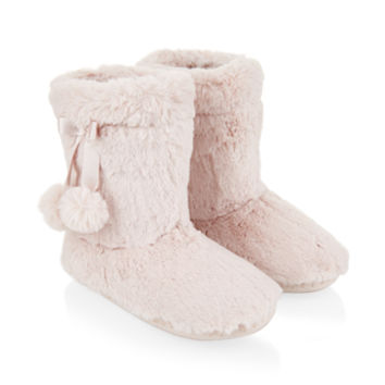 Accessorize | Supersoft Boot Slippers | Pink