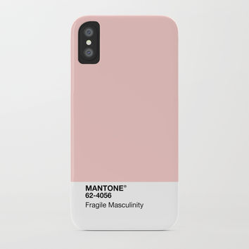 MANTONE® Fragile Masculinity iPhone Case by emilyskublics