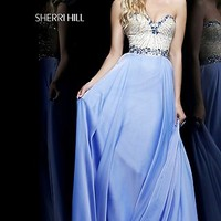 Strapless Sweetheart Neckline Prom Dress by Sherri Hill