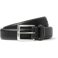 Paul Smith Shoes & Accessories - Pin-Up Print-Lined Leather Belt | MR PORTER