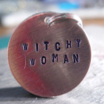 Witchy Women, Halloween Charm, Halloween Party Favor, Halloween Wine Charm, Witchy, Women, Witch, Custom Charm, Personalized Halloween Gift