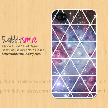 Nebula iPhone 4, 5 Case, Fox Fur Galaxy iPhone 4 case, Triangle Space iPhone 4s Cover , Geometric Hard Plastic iphone 5 Cover, cases
