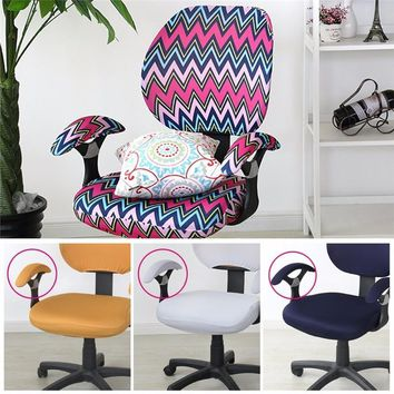 Hot Sale Office Chair Covers Spandex Computer Chair Flower Printed Removable Rotating Stretch Chair Covers
