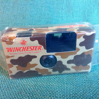 Winchester Camo Pattern One Time Use Fuji Photo Film Camera -  Sealed in Original Package - Never Used - 24 Exp