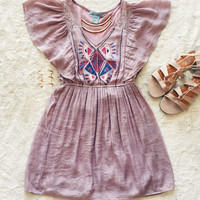 An Aztec Sundress in Mauve
